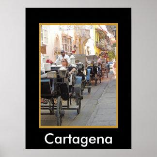カルタヘナのコロンビアキャリッジ乗車 ポスター