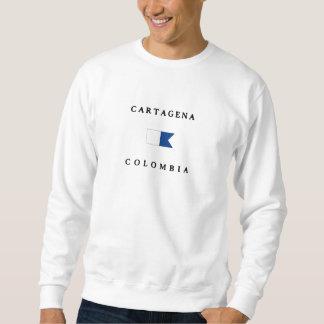 カルタヘナコロンビアのアルファ飛び込みの旗 スウェットシャツ