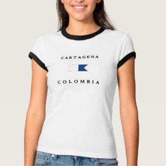 カルタヘナコロンビアのアルファ飛び込みの旗 Tシャツ