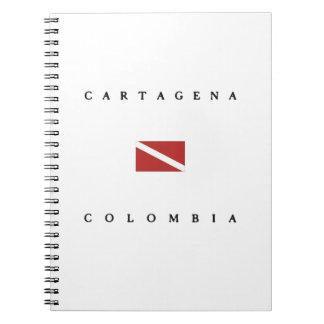 カルタヘナコロンビアのスキューバ飛び込みの旗 ノートブック