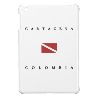 カルタヘナコロンビアのスキューバ飛び込みの旗 iPad MINIケース