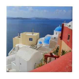 カルデラ、Oia、Santorini、ギリシャ タイル