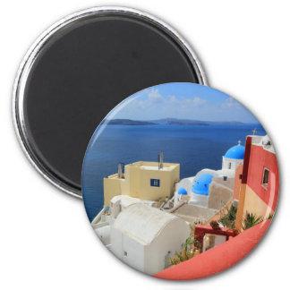 カルデラ、Oia、Santorini、ギリシャ マグネット