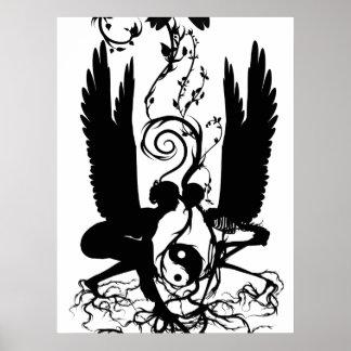 カルマのプリントの根 ポスター