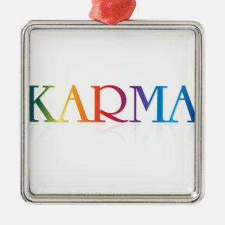 カルマの商品 シルバーカラー正方形オーナメント