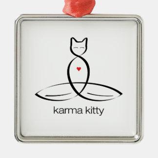 カルマの子猫-規則的なスタイルのテキスト メタルオーナメント