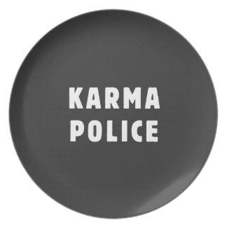 カルマの警察 プレート