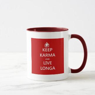 カルマを保ち、longa住んで下さい マグカップ
