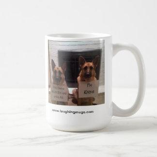 カルマ犬のマグ コーヒーマグカップ
