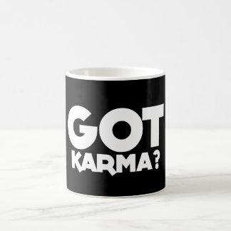 """""""カルマ""""を、文字、単語、カルマ得ました、 コーヒーマグカップ"""