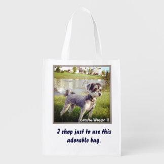 """カルミンWinston """"愛らしく再使用可能な買い物袋"""" エコバッグ"""