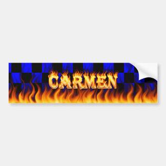 カルメンの実質火および炎のバンパーステッカーは設計します バンパーステッカー