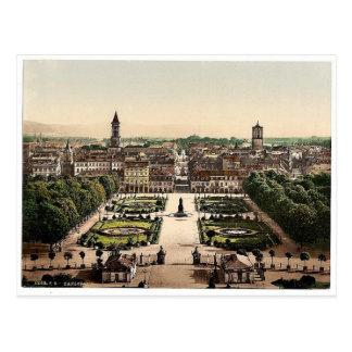 カルルスルーエ、一般的な見解、Baden、ドイツはmagnificen ポストカード