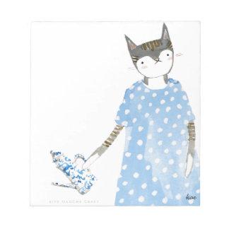 カレンの歩行者の服のメモ帳のお茶会猫 ノートパッド