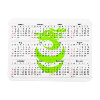カレンダーの薄緑のドラゴンの報酬の磁石 マグネット