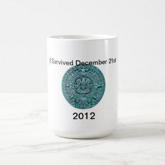 カレンダーの2012の12月マヤの21日、マグ コーヒーマグカップ