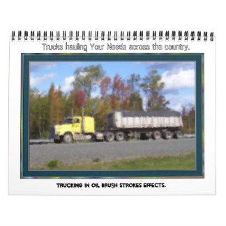 カレンダーを全国各地からトラックで運ぶこと カレンダー