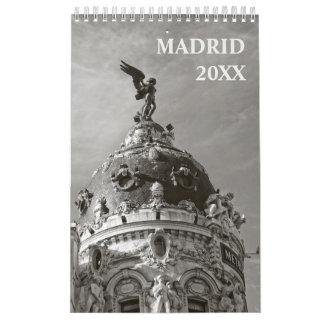 カレンダー12か月のマドリードの カレンダー