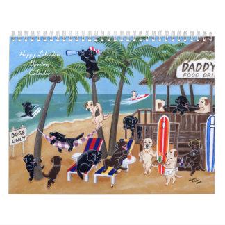 カレンダー2017年を遊ばす幸せなラブラドール カレンダー