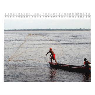 カレンダー、アマゾン川 カレンダー