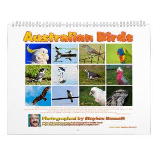 カレンダー: オーストラリアの鳥の写真 カレンダー