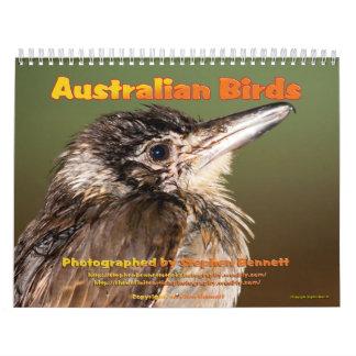カレンダー: オーストラリアの鳥は…大きい撮影します カレンダー