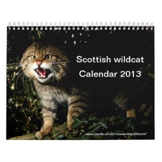 カレンダー-スコットランドの山猫 カレンダー