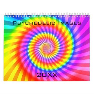 カレンダー: 抽象的で/サイケデリックなアートワーク カレンダー