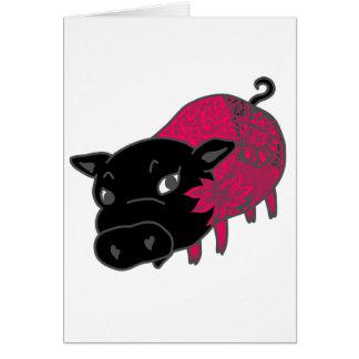カレーの大好きなの、の黒豚の名前はチェルシーの。黒いブタチェルシー カード
