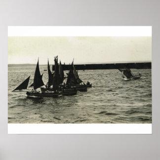 カレーを離れた漁船 ポスター