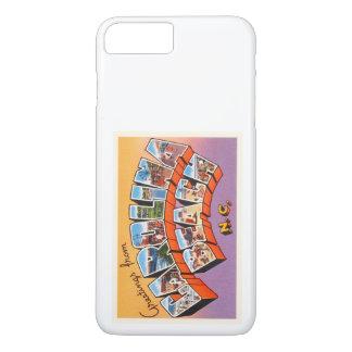 カロライナのビーチのノースカロライナNCのヴィンテージの郵便はがき iPhone 8 PLUS/7 PLUSケース