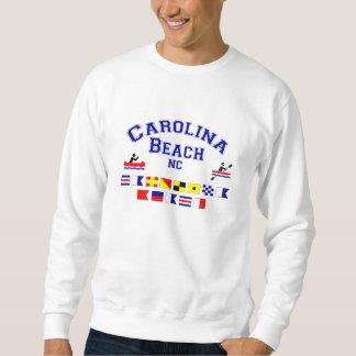 カロライナのビーチNCのシグナルフラグ スウェットシャツ