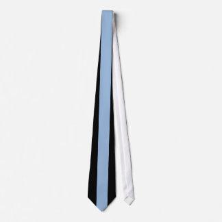 カロライナの黒の青い縦ストライプ オリジナルネクタイ
