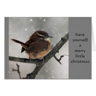 カロライナミソサザイのクリスマスカード カード