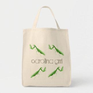 カロライナGrrlの州の昆虫の買い物袋 トートバッグ