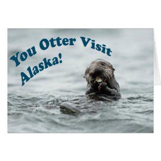 カワウソの訪問アラスカ カード