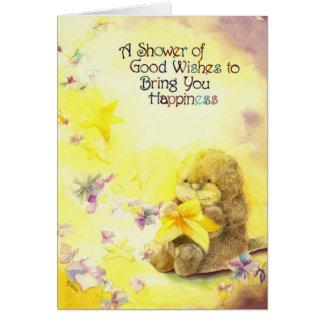 カワウソの誕生日の願い カード
