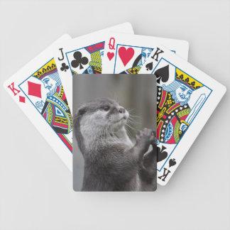 カワウソの首謀者のカジノカード バイスクルトランプ