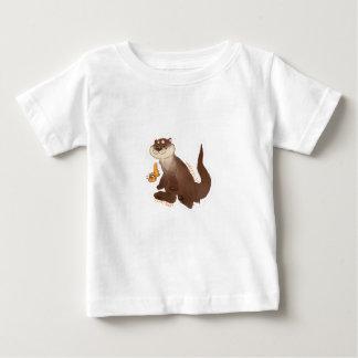 カワウソのnの金魚 ベビーTシャツ