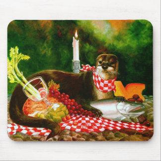 カワウソはピクニックマウスパッドに侵入します マウスパッド