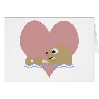 カワウソ愛 カード