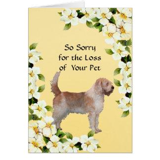 カワウソ猟犬およびミズキ-悔やみや弔慰 カード