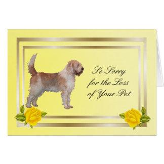 カワウソ猟犬および黄色バラ-ペット損失 カード