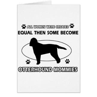 カワウソ猟犬のお母さんのデザイン カード