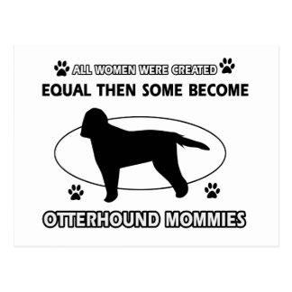 カワウソ猟犬のお母さんのデザイン ポストカード