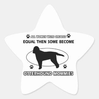 カワウソ猟犬のお母さんのデザイン 星シール