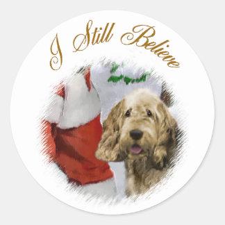 カワウソ猟犬のクリスマスのギフト ラウンドシール