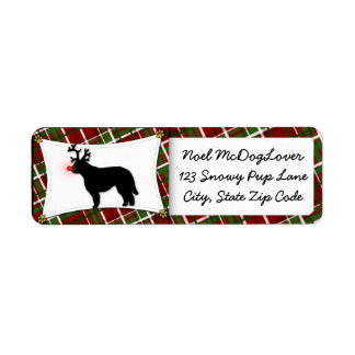カワウソ猟犬のクリスマス ラベル