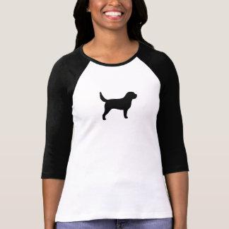 カワウソ猟犬のシルエット Tシャツ