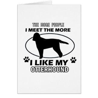 カワウソ猟犬のデザインおよびギフト カード